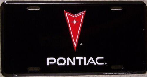 Aluminum License Plate vehicle Pontiac emblem logo NEW