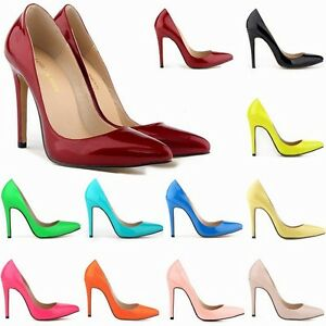 Girls-Women-039-s-Sexy-11cm-High-Heels-Office-Ladies-Pumps-Shoes-16-Colors-9-Sizes