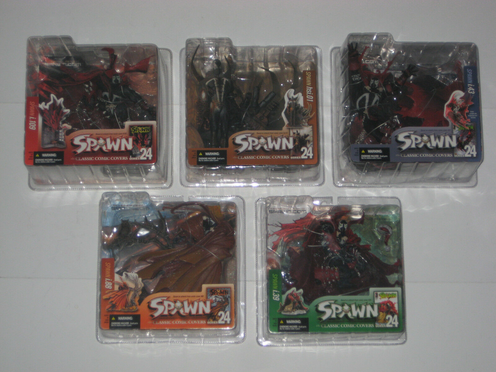 McFarlane Spawn - SPAWN SERIES 24  Classic Covers Complete Set Lot Wal-Mart RARE