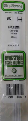 Evergreen Strip Styrene 285. 3 Pieces 5/32 H Column