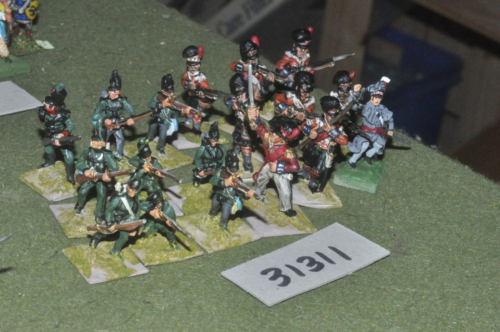 25mm napoleonic   british - rifles & scots 18 figures - inf (31311)
