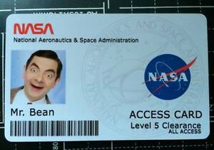 Novelty Nasa Id Card With Your Photo Amp Information