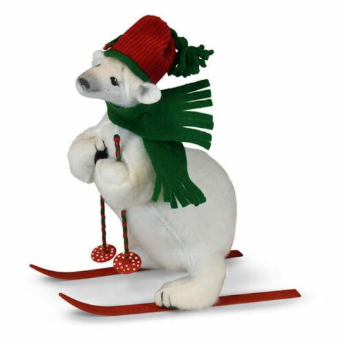 Annalee Dolls 2019 Christmas 10in Snow Fun Polar Bear Plush New with Tag