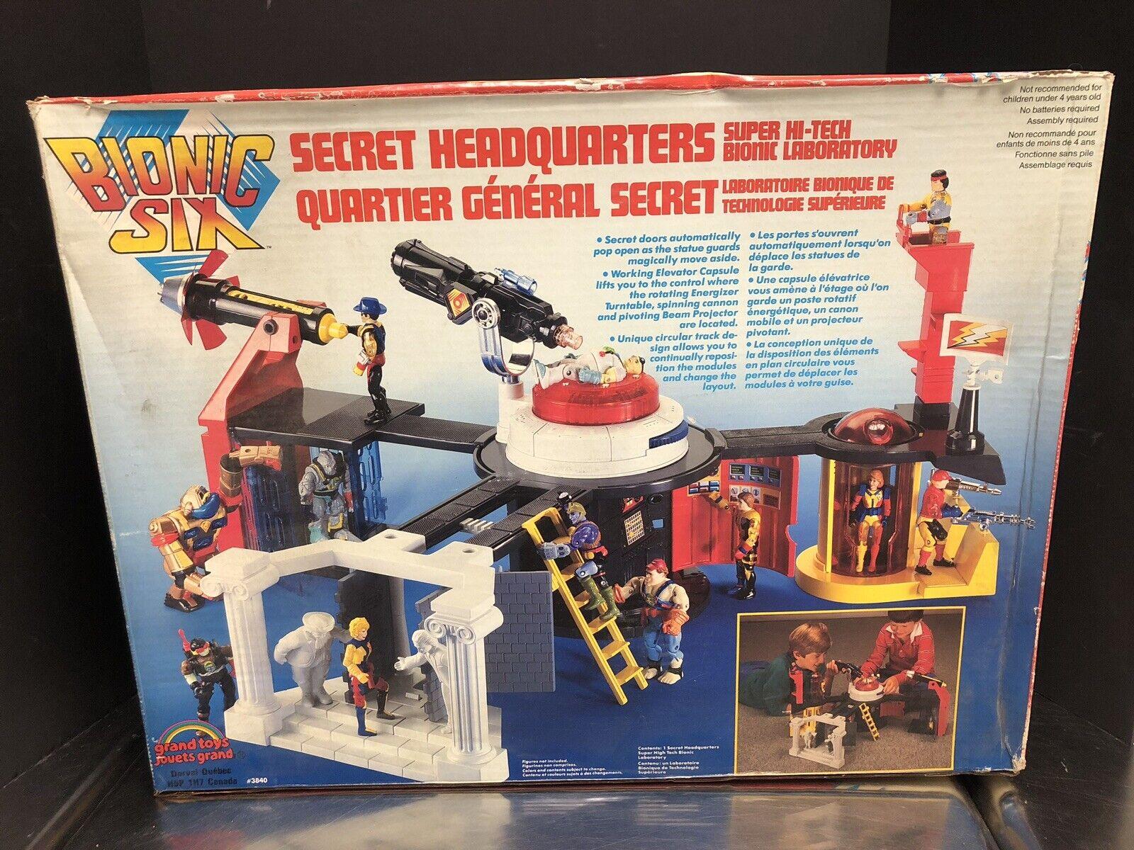 LJN Juguetes Vintage 1986 Bionic seis sede Secreto Caja Sellada  Raro  que 0145