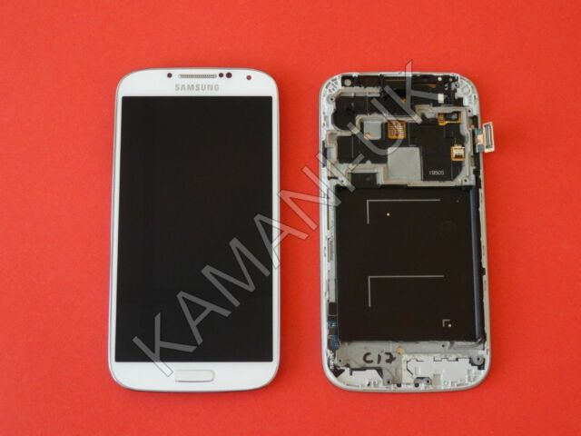 White LCD Display Touch Screen Digitizer + Frame For Samsung Galaxy S4 i9505 OEM