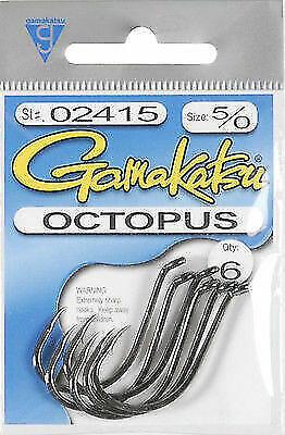 Gamakatsu Octopus Nickel Hook Size 5//0 25 Per Pack 02015-25