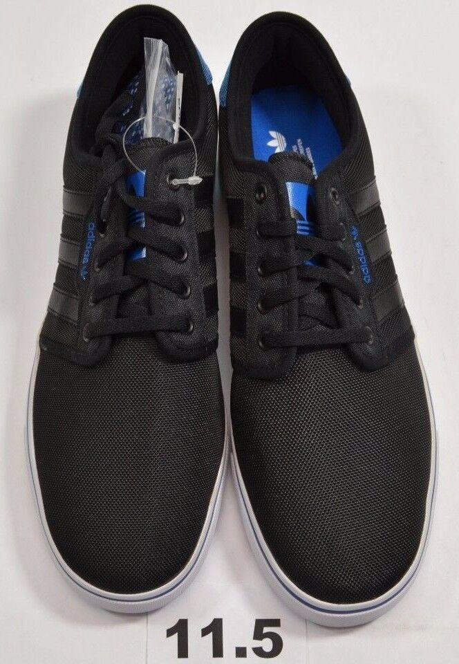 Adidas seeley schwarzen vogel skateboarding schuhe