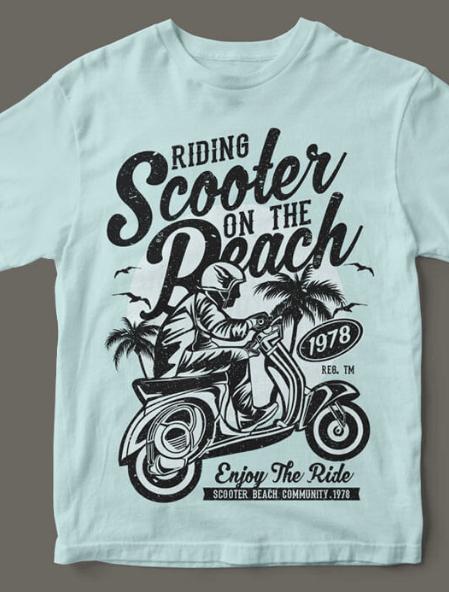 4 motivi Set riding SCOOTER, Barber Shop, Outerspace Adventure, skate for Life