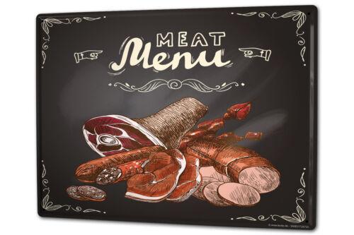 Tin Sign XXL Retro Meat metal plate plaque