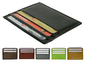Men/'s Genuine Leather Thin Wallet ID Money Credit Card Slim Holder Front Pocket