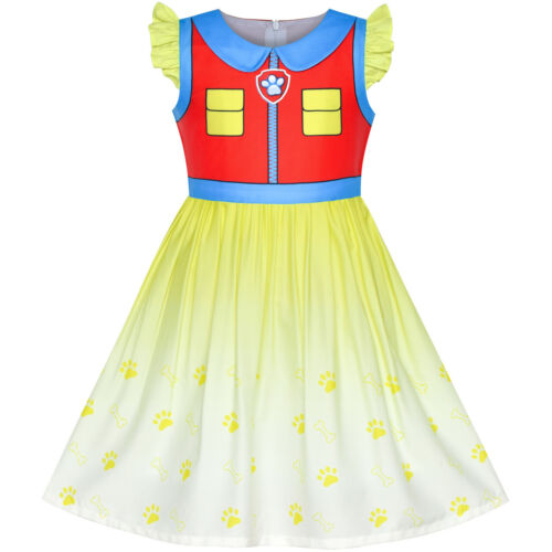 Sunny Fashion Girls Dress Paw Patrol Apollo Cosplay Party Age 3-7 Years Pageant