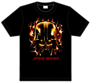 T-shirt-STAR-WARS-Darth-Vader-FLAMES-taille-au-choix