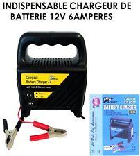 INDISPENSABLE CHARGEUR DE BATTERIE 12V VOITURE MOTO 4X4 CAMION QUAD CAMPING CAR