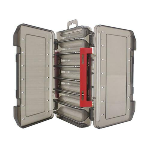 Details about  /Double Sided Fishing Tackle Box 12 14 Compartments Lure Hook Storage Box