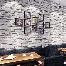 10M 3D Brick STONE Wallpaper Natural Colour Slate Outdoor Rustic Look Home Decor