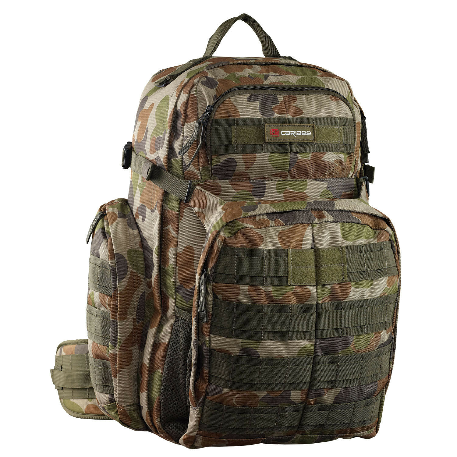 Caribee Heavy Duty Tactical Military OPS Backpack - 50L - Camo Aus