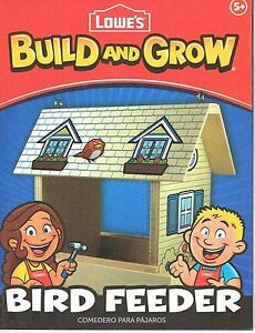 Lowes Build and Grow Bird Feeder Wood Kit With Patch