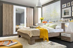Martina Bedroom furniture Set Wardrobe King Size Bed Bedside oak ...