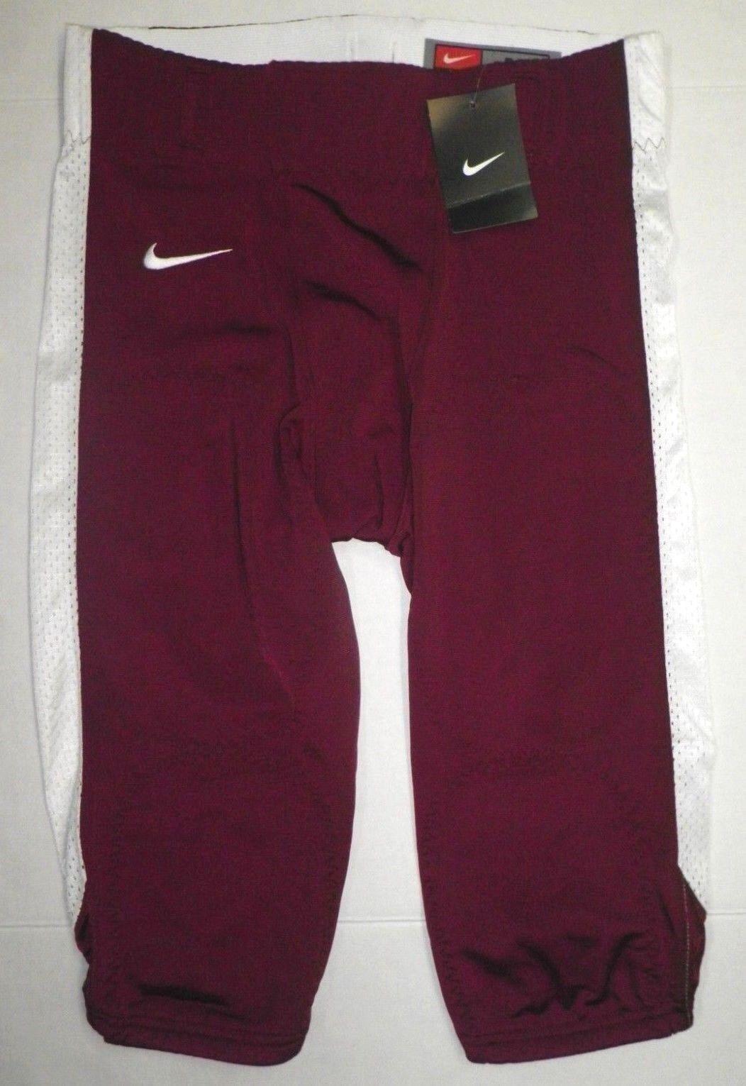 NIKE Team Mens Open Field Knee Length Football Pants Tights 615745 MAROON S M L