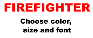 Firefighter-Vinyl-Decal-Sticker-Text-Placard-Window-Truck-Car-Pick-Color-Red