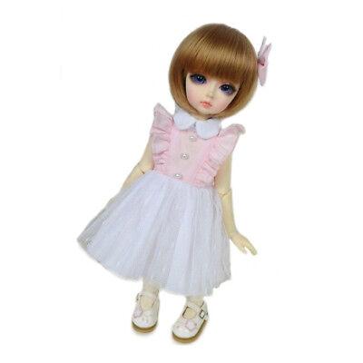 PF 108#white Clothes//dresses//clothes 1//4 MSD DOD BJD Dollfie
