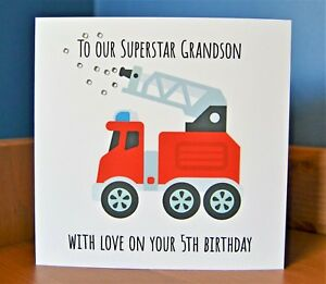 Red /& Yellow Helicopter Birthday Customised Card