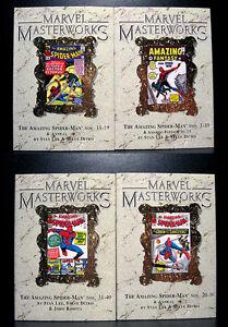 COMICS-Marvel-Masterworks-Amazing-Spiderman-1-40-4-variant-hardcovers