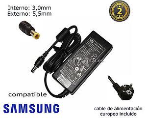 Detalles de Cargador de portatil compatible Samsung NP RC510E NP RC710E