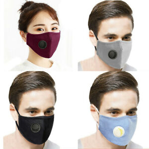 Reusable Washable Cotton Mouth Face Covers Coverings Respirator Air Vent Ebay