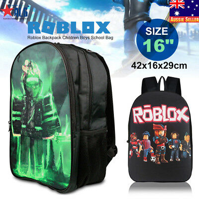 Roblox Pattern Backpack Children Boys School Bag Student Laptop Kids Rucksack