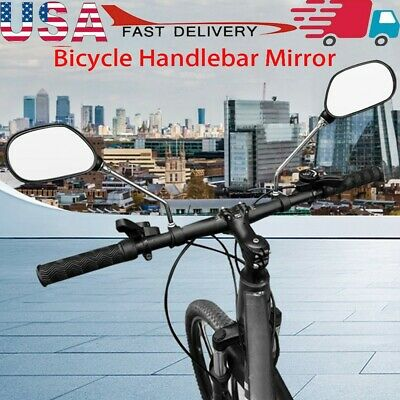 1 Pair Bicycle Handlebar Mirror Bicycle Bike Rearview Wide Range Back Sight