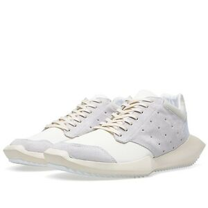 204a18b4d42b 100% Authentic Adidas X Rick Owens Tech Runner (White) Size UK 6