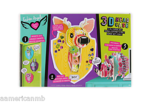 Fashion Angels Super Set 3D Head Case Magnetic Kitty Puppy Bunny Bucky Hedgehog