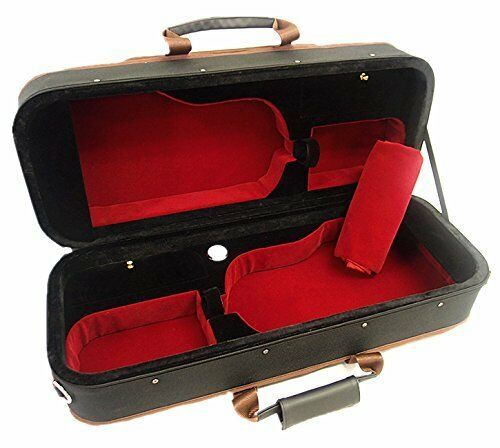 Nice Light Weight 4 4 Double Two Violins Foamed Case+ free violin string set
