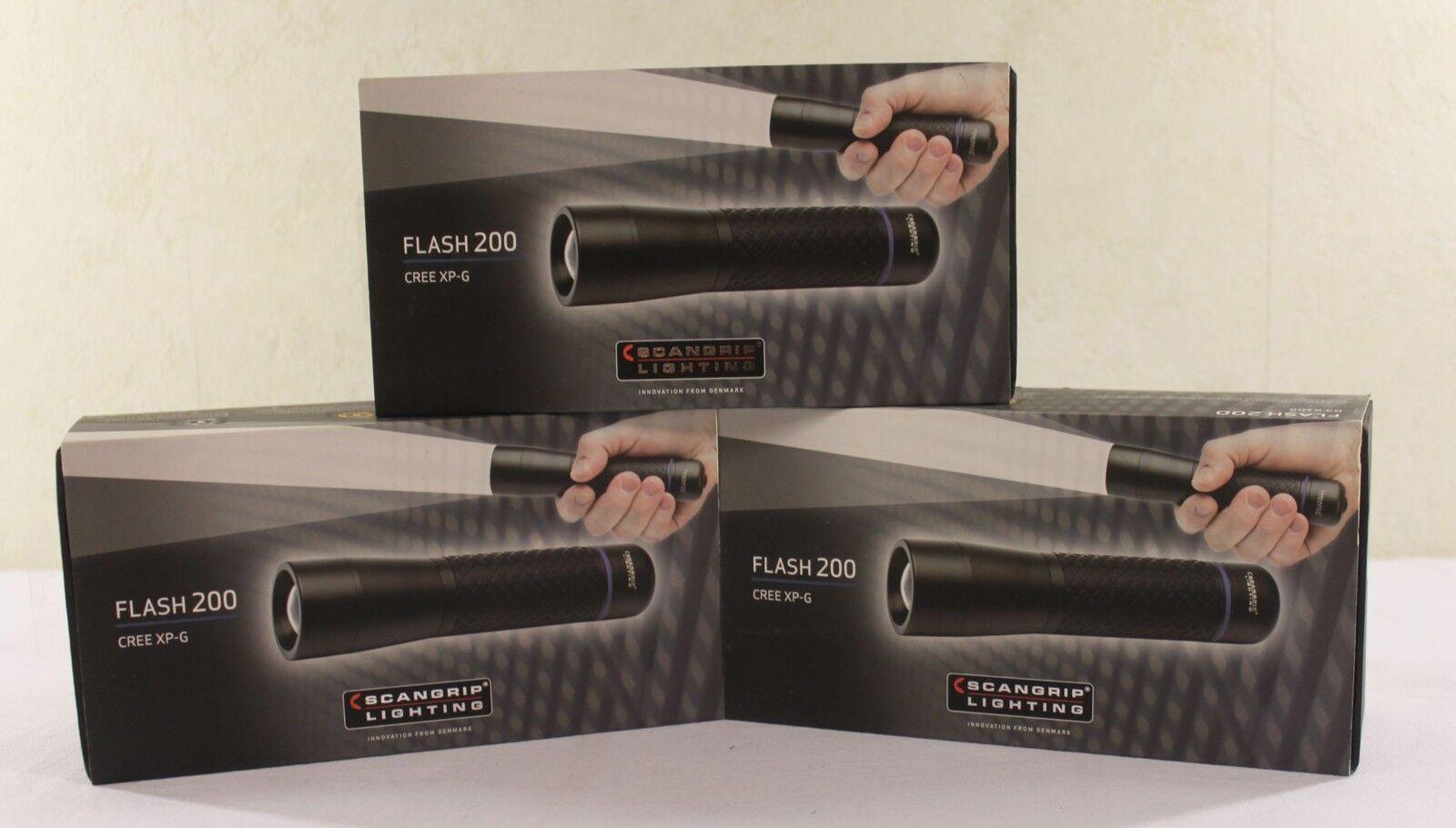 Scangrip LED Taschenlampe Flash 200 180m Leuchtw. mit Focusfunktion