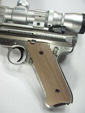 Unfinished Walnut Ruger Mark II/III Grips MK 2/3