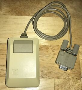 TESTED-1984-Apple-Macintosh-1st-Original-Style-Beige-MOUSE-M0100-Mac-128K-NICE