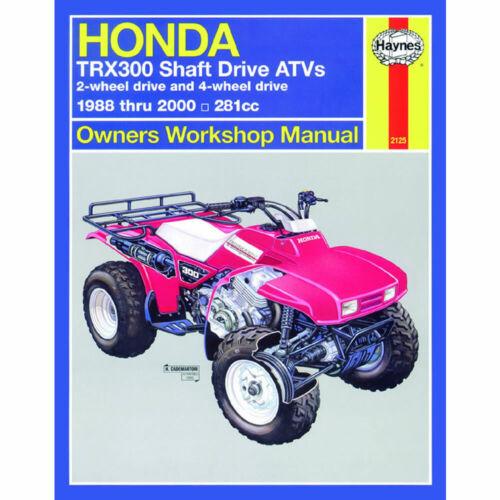 Honda TRX300 Haynes Manual 1988-2000 Shaft Drive ATVs 281cc Workshop Manual