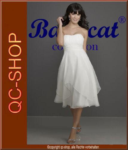 Standesamt Brautkleid Abendkleid Hochzeitskleid Kleid creme or weiß AZ003 34-46