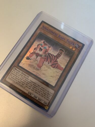 Details about  /Amazoness Baby Tiger LDS1-EN023 BLUE Ultra Rare Yugioh