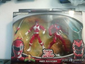 2017 Bandai Power Rangers Mighty Morphin Then and Now Red Ranger Set SEALED