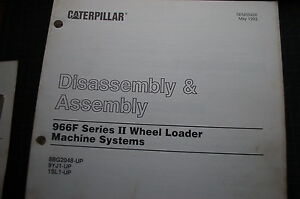 caterpillar 966f wheel loader machine system disassembly assembly rh ebay co uk Caterpillar 966F Parts Manual Caterpillar 966F Wheel Loader