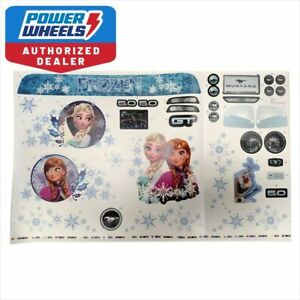 Power-Wheels-3900-5171-Disney-Frozen-Ford-Mustang-5-0-Label-Decal-Sheet-Genuine