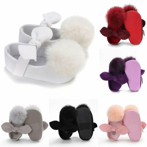 Newborn Baby Girl Soft Sole Crib Shoes Bow Sneaker Infant Toddler Casual Shoe