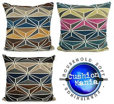 """Cushions New Soft Chenille HEXAGON Scatter Cushions or Covers 17/"""" X /""""17/"""""""