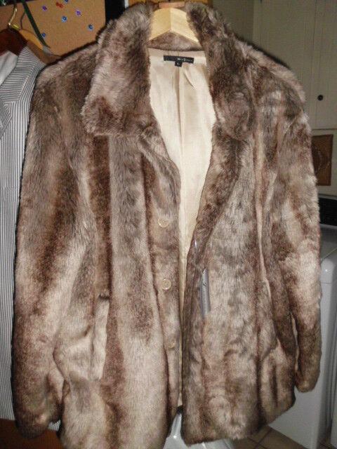 Coat, Faux Fur, Women's Size Size Size Large, Vintage with tags af59ba
