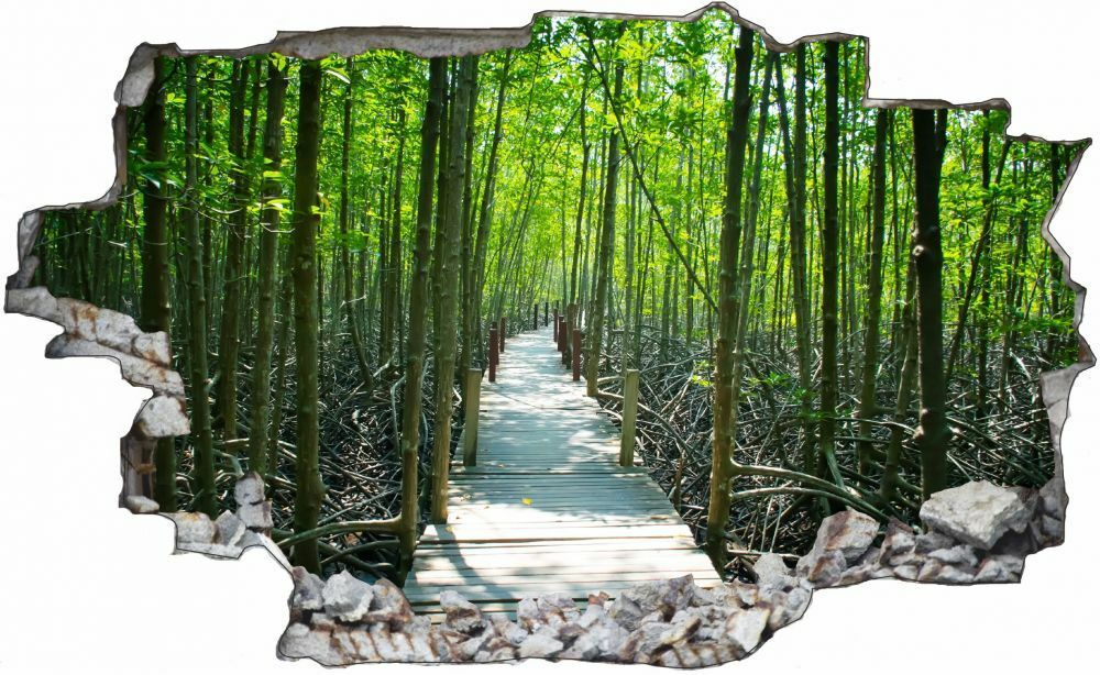 Forêt voie Pont Autocollant Mural Sticker Autocollant Pont c1328 fb8892