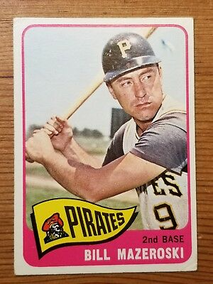 1965 Topps Bill Mazeroski Pittsburgh Pirates 95 Baseball Card