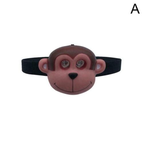Animal LED Headlamp Head Light Torch Child/'s Kid Flashlight L5W2