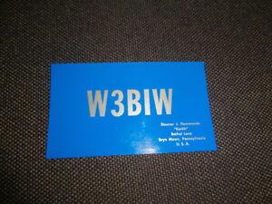 carte QSL ancienne BRYN MAWR PENNESYLVANIE USA 1957 états unis... uDvjmgCl-09090534-231023250